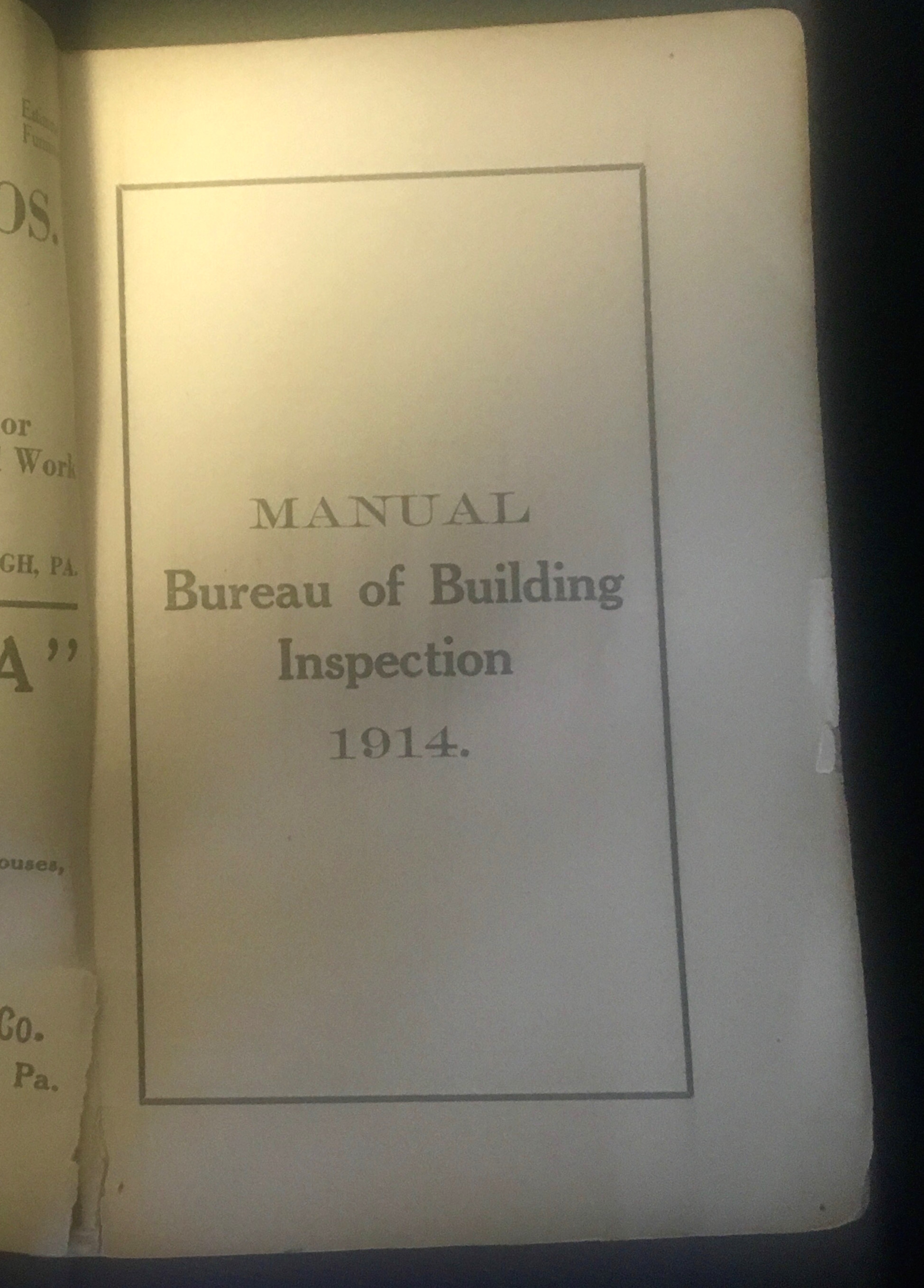Inspection document.